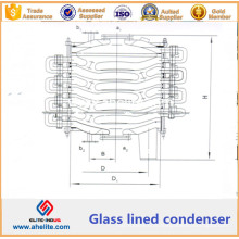 Condensador Forrado a Vidro - Condensador Químico Forrado a Vidro