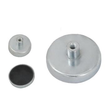 Ferrite Magnet Base with inner thread rod
