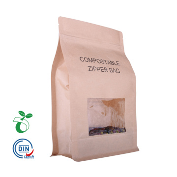 Eco Compostable / Biodegradable Food Packaging Bag mit Fenster Großhandel