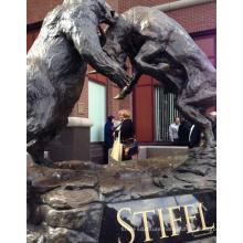famous bronze sculpture artists metal craft bear bull statue