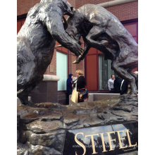 famosos artistas de escultura em bronze metal ofício urso touro estátua