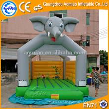 Elefante diseño inflable animales gorilas / juguetes r nos inflables bouncers con salto de castillo ventilador