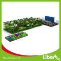 Große Kinder Indoor Vergnügungspark mit Trampolin, Custom Design Dschungel Thema Kinder Indoor Park mit Trampolin