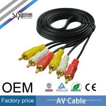SIPU usine prix 0.38 1.5 m en gros 3Rca à 3Rca HDTV AV AUX Vidéo Audio Tv Câble