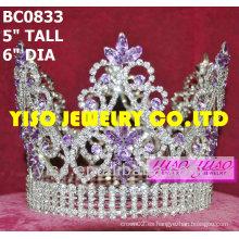 Corona de concurso de belleza redonda