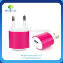 Adaptador al por mayor del cargador de la pared de Alibaba 5V 1A para el iphone y el smartphone, para el cargador del teléfono móvil del cargador del iphone 5