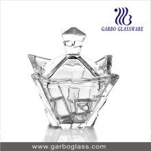 Nouveau pot design en verre avec couverture
