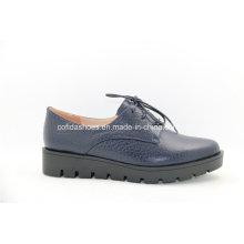 Europäische Freizeit-Frauen spitzen Leder-Schuhe für Trendy Lady