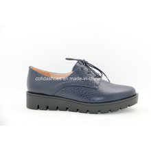 European Leisure Women Pointed Leather Shoes for Trendy Lady
