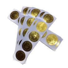 Custom Embossed 3D Logo Name Packaging Gold Foil Sticker