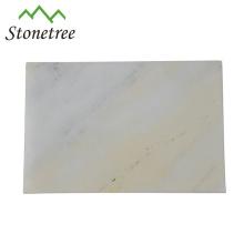 Weiße natürliche Marmorsteinkäse-Servierplatte / Brett-hackendes Brett