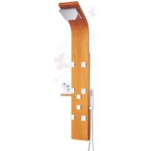 Thermostatische Bambus Holz Massage Jets SPA Duschwand Multifunktionsgerät