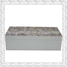 Natural Craft Pink Shell Storage Box with Spray Paint
