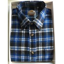 Camisa de negocios de tela de franela 100% algodón