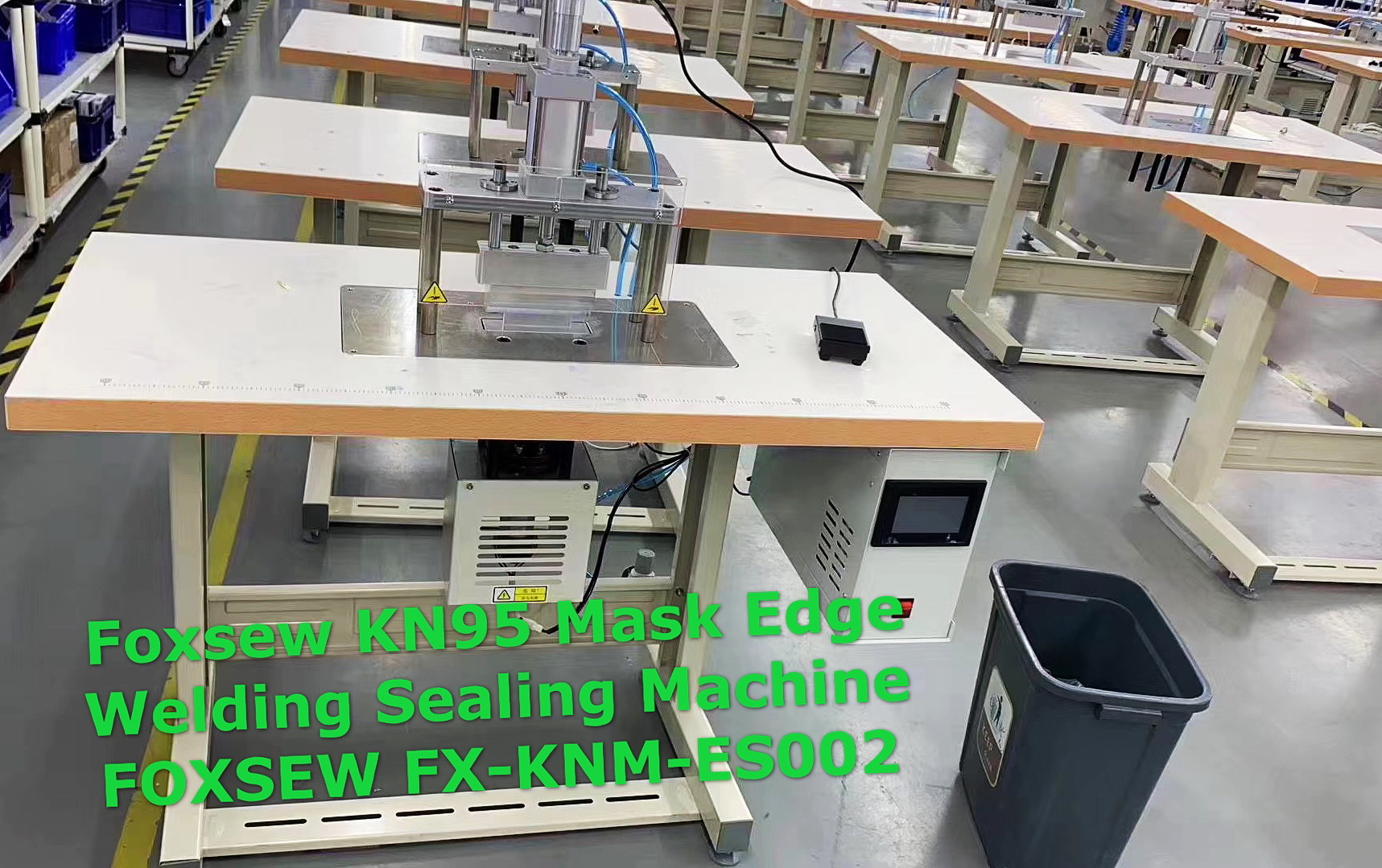 Ultrasonic KN95 Mask Edge Welding Sealing Machine FOXSEW FX-KNM-ES002 (3)
