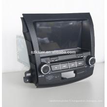 Quad lecteur DVD de voiture de base avec gps, wifi, BT, lien miroir, DVR, SWC pour Mitsubishi outlander 2006-2011