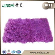 Placa de piel de cordero rizada mongol tibetana del pelo largo al por mayor