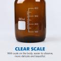Flacon de réactif en verre brun transparent