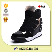2015 china best price suede elevating platform high heel boots for women