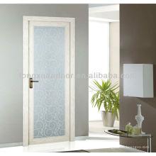 Aluminium-Schaukel-Glas-Toliet-Tür, volles Glas-Badezimmertür-Design