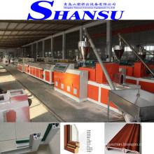 Machine d'extrudeuse de profil de fenêtre de porte de PVC de SHANSU, projet de production de portes de profil