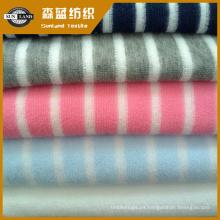 tejido de rizo hilado teñido con hilo de poliéster para prendas de vestir y textiles para el hogar