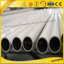 Liga de 6000 séries anodizou em volta dos produtos de alumínio do tubo / tubulação