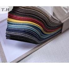 Tela decorativa de la cubierta de asiento de la silla del hilado de lino de la tela 2017