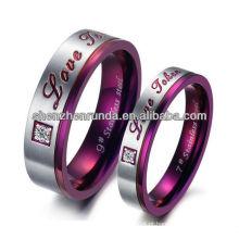 Venda Por Atacado aço inoxidável anel zircão pedra anéis para jóias de moda com alta qualidade de Shenzhen Runda Company