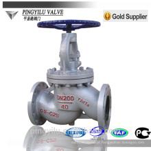 Flange de aço fundido final PN 16-100 válvula de globo de aço inoxidável fabricante