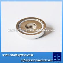 D47 * 10 mm starke Kraft Neodym-Topf-Magnet für Verkauf / ndfeb Magnettopf und Haken wählbar für die Verwendung