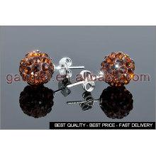 shamballa ball stud earrings