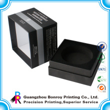 Luxury Black Matte Watch Caja de embalaje con bandeja