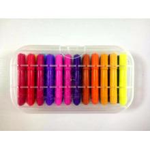 crayón plástico rotatorio del arco iris del labio del aceite