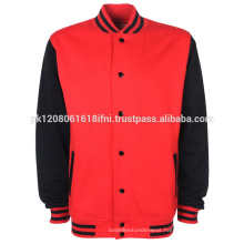Best quality fabric red black varsity jacket wholesale
