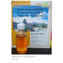 Eficaz, ampliamente utilizado Pretilachlor 95% TC, 50% EC, de buena calidad herbicideCAS NO.:51218-49-6