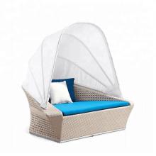 All weather handmade outdoor beach  chaise chair wicker sun lounge