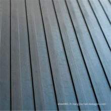 Plancher en caoutchouc antidérapant large nervuré de haute qualité en caoutchouc de feuille