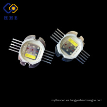 30W 590nm multi color LED de alta potencia Doide integrado con RGBWA cinco en uno led