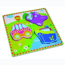 Wooden Puzzle for Baby with Vehicles (80631-2)