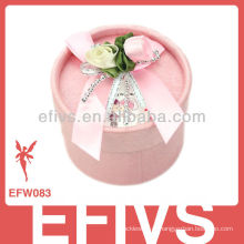 2013 Delicate Pink Cylinder Wedding Favor Caixa feita na China