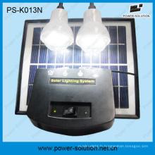 4W Portable LED Kit d'éclairage solaire en courant continu avec lampes LED 2p.