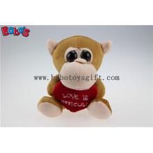 Valentinstag Geschenke Big Eyes Toy Serie Affe Tier mit rotem Herz Bos1176