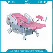 AG-C101A03B de haute qualité avec 2 garde ABS de lit de livraison gyne électrique médical
