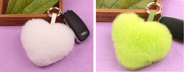 Fur Bag Genuine Rex Rabbit Fur Ball Key Chain