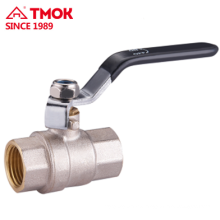 Black handle forging straight through brass ball valve FxF