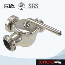 Vanne antidérapante sanitaire à 3 voies en acier inoxydable avec Union Bsm