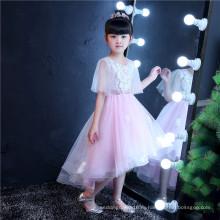 Половина рукава кружева девочка платье для свадьбы