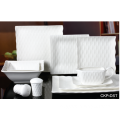 NIEUWE BONE CHINA EMBOSSED TABLEWARE SET