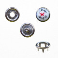 Nickel Free Pearl Prong Snap Button with Pattern Cap